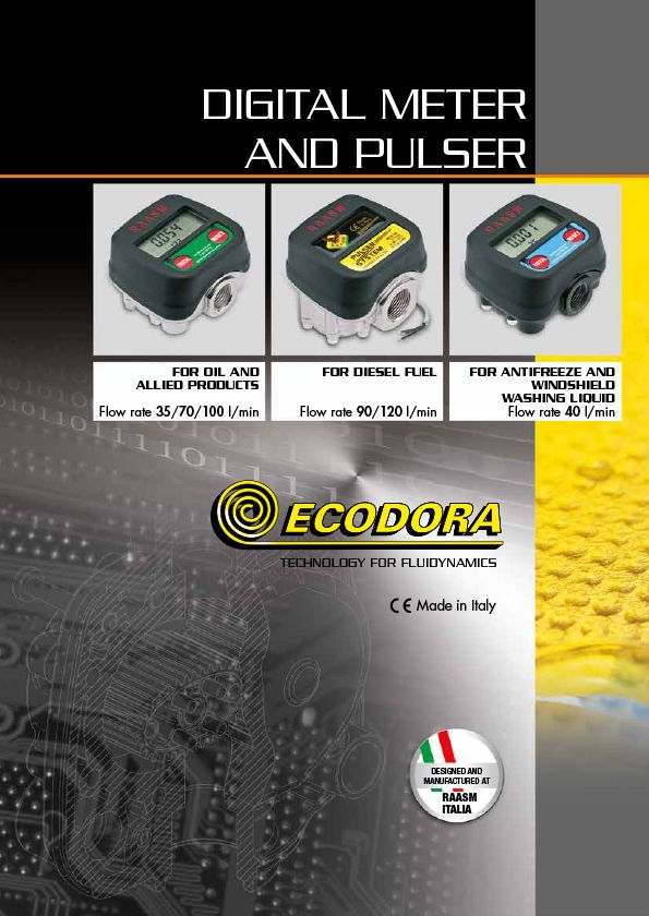 Digital meters and pulser catalogue